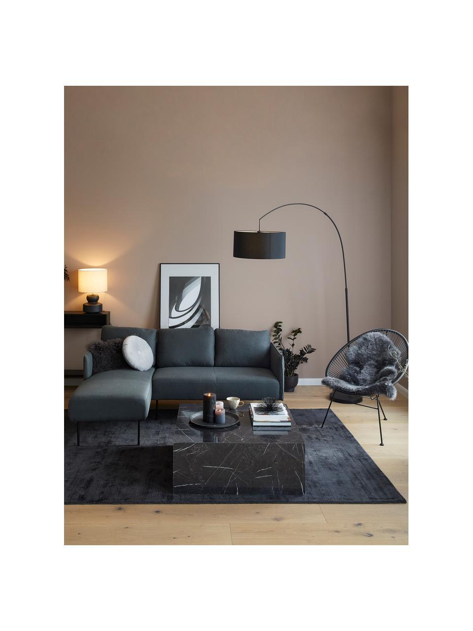 Loungesessel Bahia aus Kunststoff-Geflecht, Sitzfläche: Kunststoff, Gestell: Metall, pulverbeschichtet, Grau, B 81 x T 73 cm