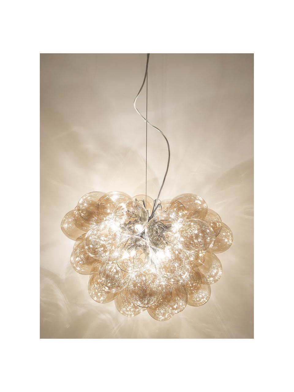 Hanglamp met glazen bollen Gross, Amberkleurig, Ø 50 cm