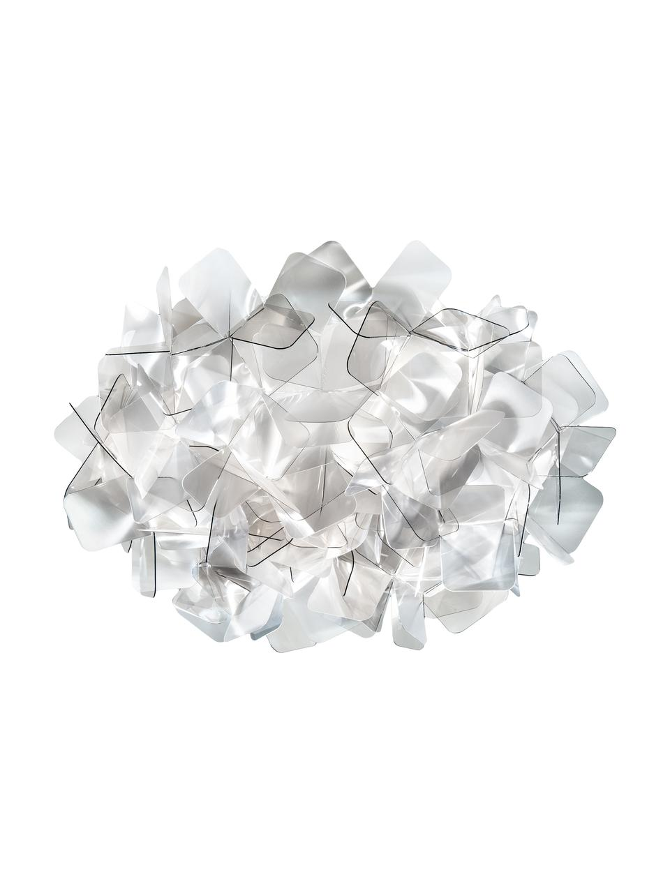 Design Deckenleuchte Clizia aus Kunststoff, Lampenschirm: Technopolymere Lentiflex®, Hellgrau, transparent, Ø 53 x H 20 cm