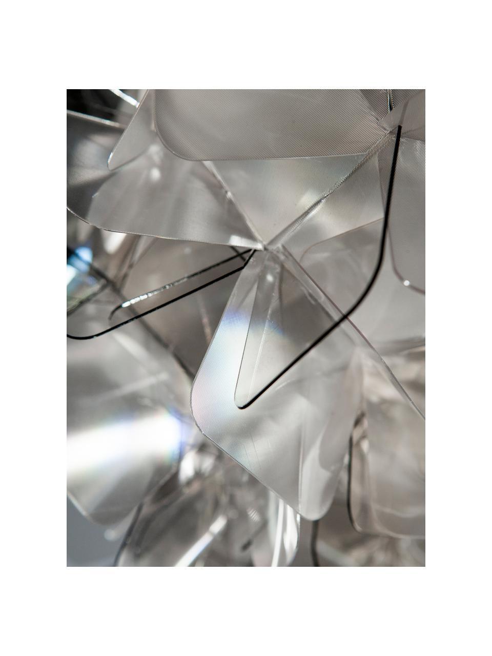 Plafonnier design Clizia, Gris clair, transparent