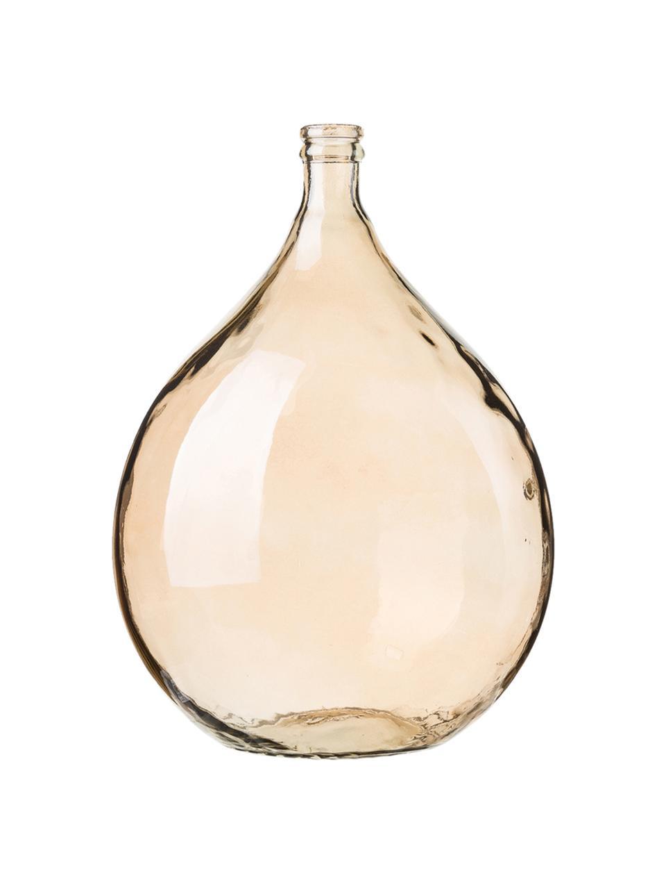 Vloervaas Drop van gerecycled glas, Gerecycled glas, Amberkleurig, Ø 40 x H 56 cm