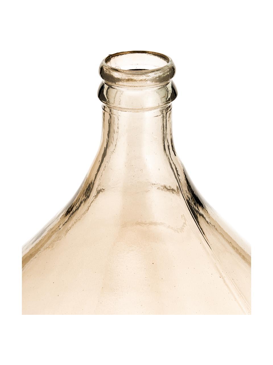 Vase dame-Jeanne verre recyclé Drop, Ambré