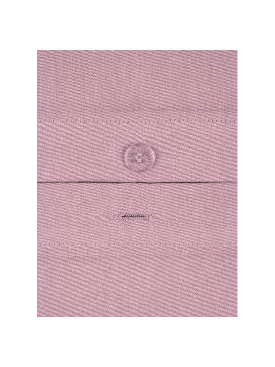 Parure copripiumino in raso di cotone Comfort, Malva, 255 x 200 cm + 2 federe 50 x 80 cm
