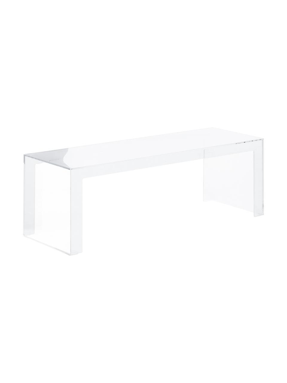 Tavolino da salotto trasparente Invisible, Materiale sintetico, Trasparente, Larg. 120 x Alt. 40 cm