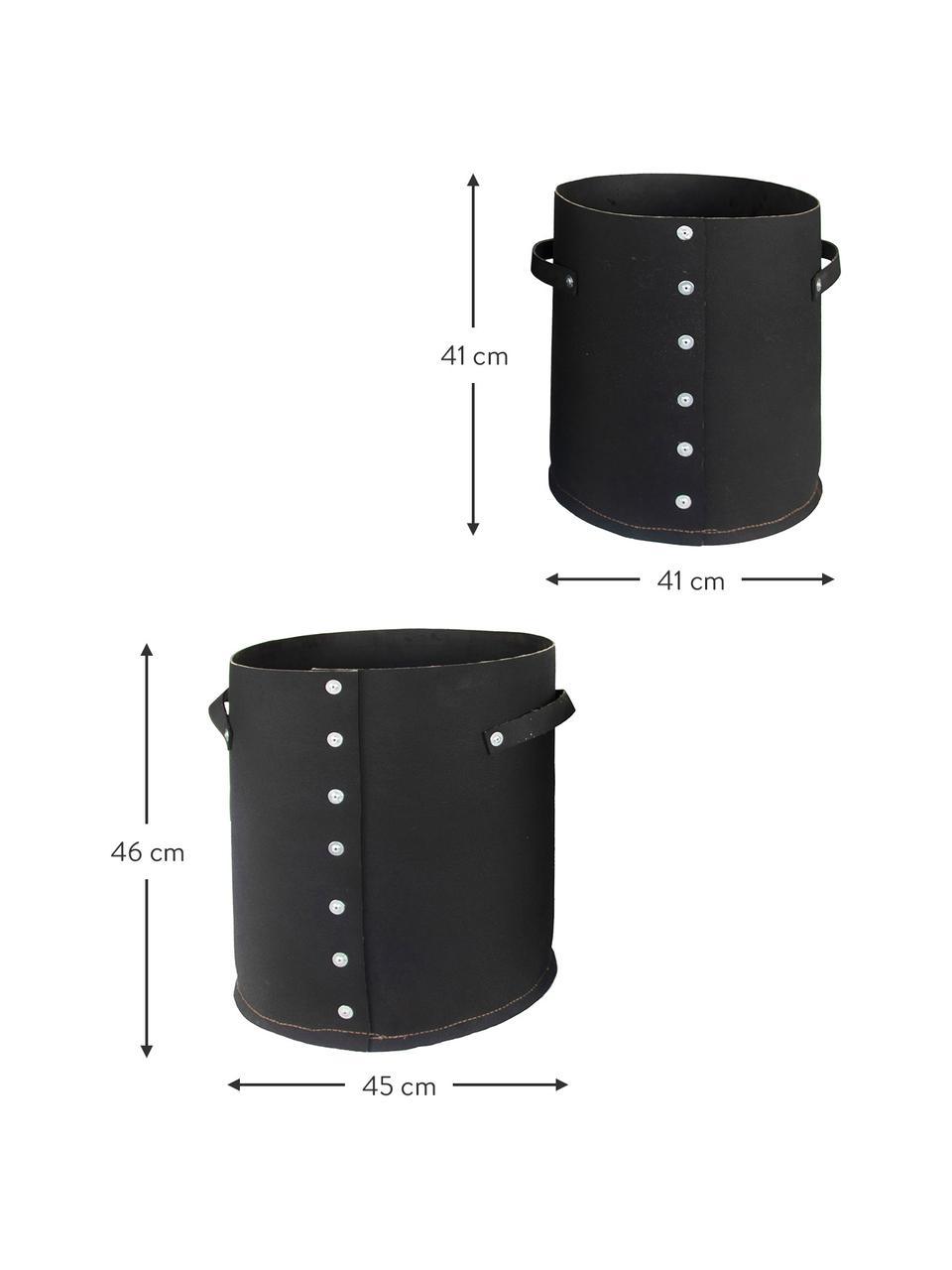 XL Handgefertigtes Übertopf-Set Reuse, 2-tlg., Gummi, recycelt, Schwarz, Set mit verschiedenen Größen