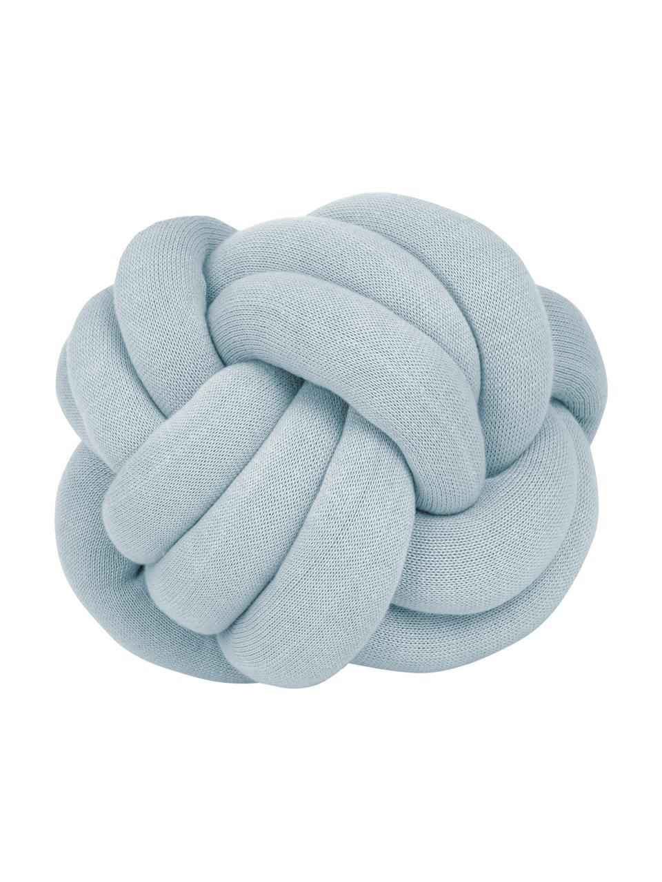 Poduszka supeł Twist, Jasny niebieski, Ø 30 cm
