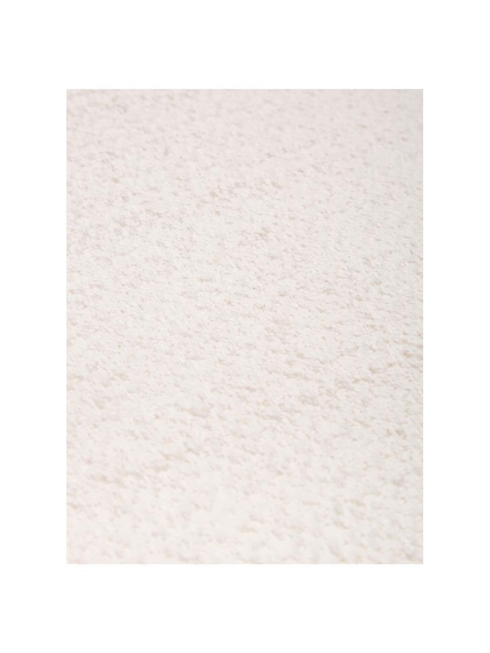 Dünner Baumwollteppich Agneta in Cremeweiss, handgewebt, 100% Baumwolle, Weiss, B 200 x L 300 cm (Grösse L)