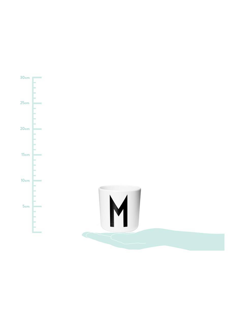 Tazza per bambini Alphabet (varianti dalla A alla Z), Melamina, Bianco, nero, Tazza M