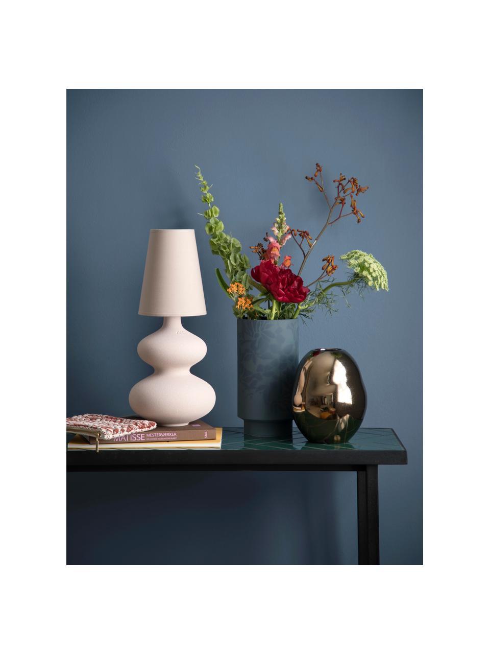 Handgemaakte design vaas Fiora van porselein, Porselein, Goudkleurig, Ø 16 x H 20 cm