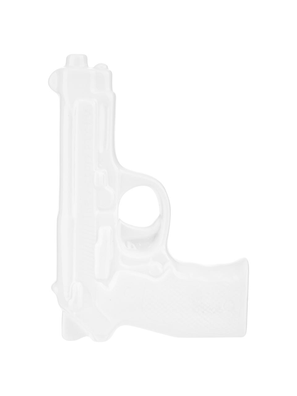 Vaas Gun, Geglazuurd porselein, Wit, 12 x 17 cm