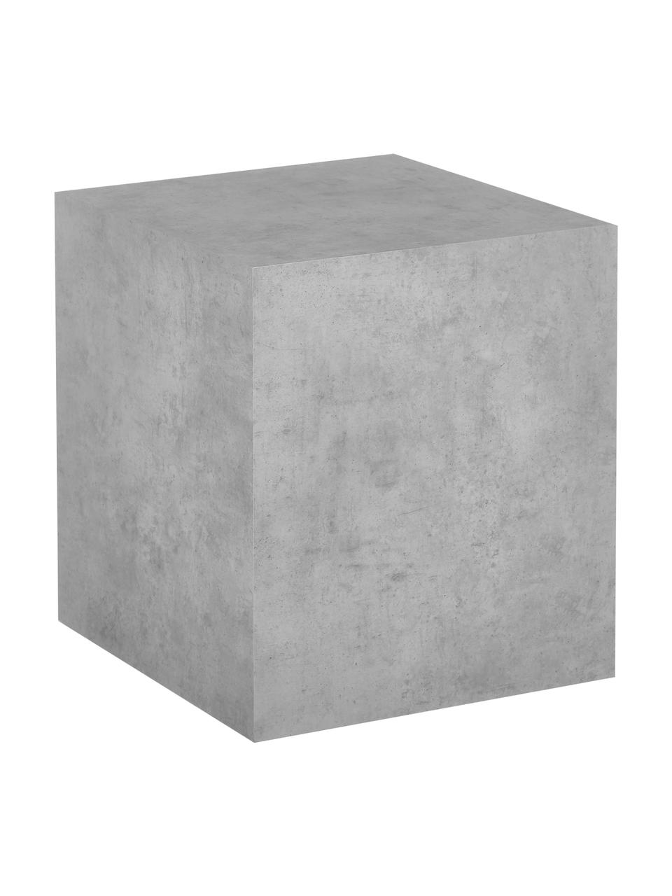 Beistelltisch Lesley in Beton-Optik, Mitteldichte Holzfaserplatte (MDF), mit Melaminfolie überzogen, Grau, Beton-Optik, 45 x 50 cm