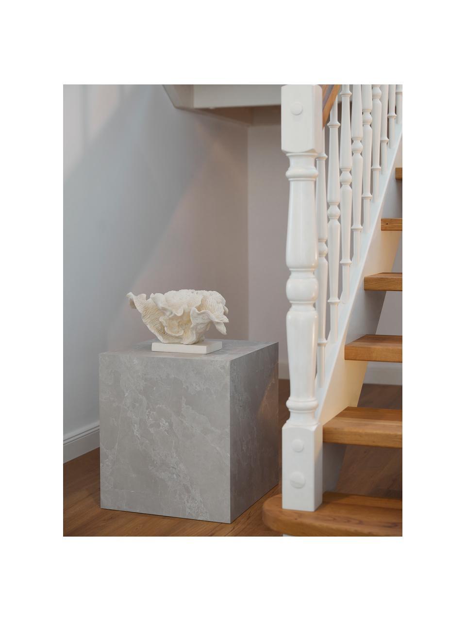 Stolik pomocniczy z imitacją betonu Lesley, Płyta pilśniowa średniej gęstości (MDF) pokryta folią melaminową, Szary, imitacja betonu, S 45 x W 50 cm
