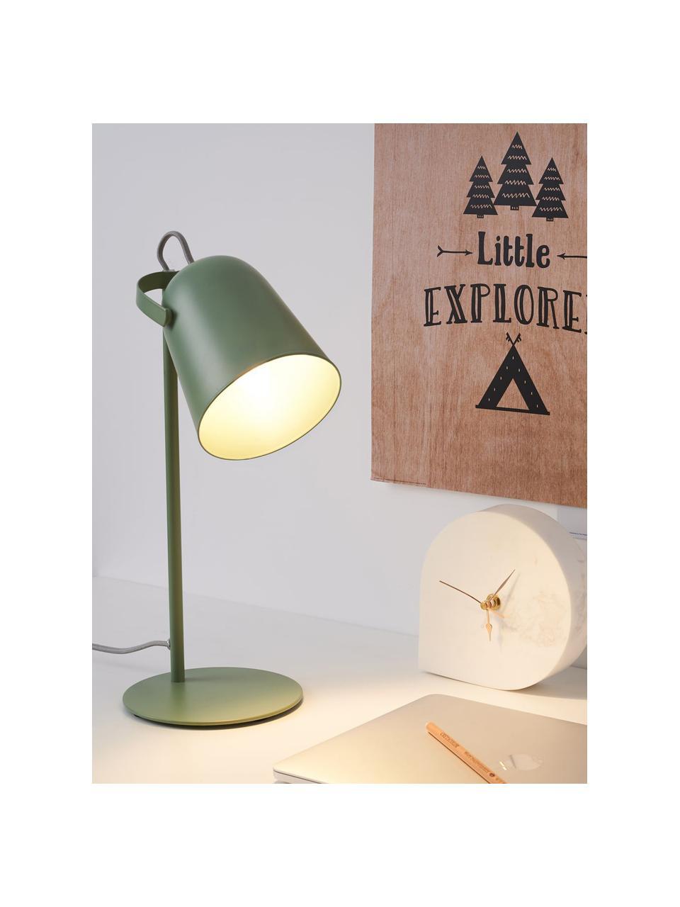 Retro-Schreibtischlampe True Pistachio, Lampenschirm: Metall, beschichtet, Lampenfuß: Metall, beschichtet, Grün, Ø 15 x H 40 cm