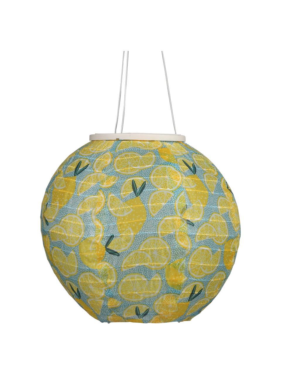 Latarenka solarna Citrus, Żółty, niebieski, zielony, Ø 25 x W 25 cm