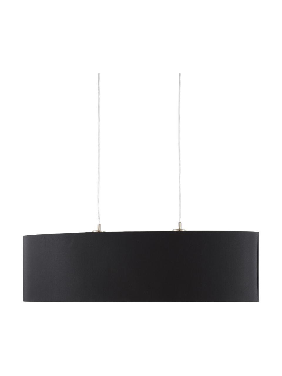 Owalna lampa wisząca Jamie, Odcienie srebrnego, czarny, S 78 x W 22 cm