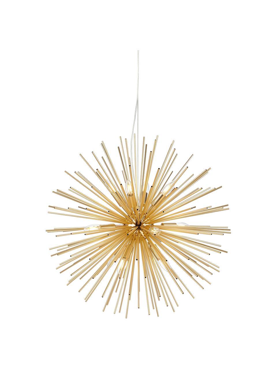 Lampa wisząca Soleil, Odcienie mosiądzu, Ø 72 cm