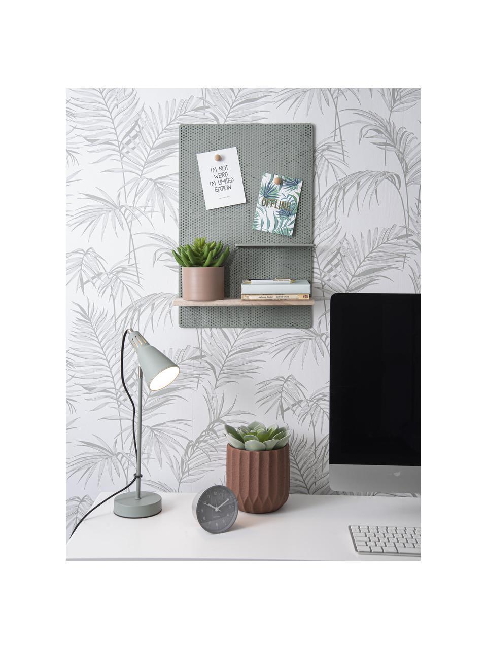 Plantenpot  Stripes van keramiek, Keramiek, Bruin, Ø 18 x H 18 cm
