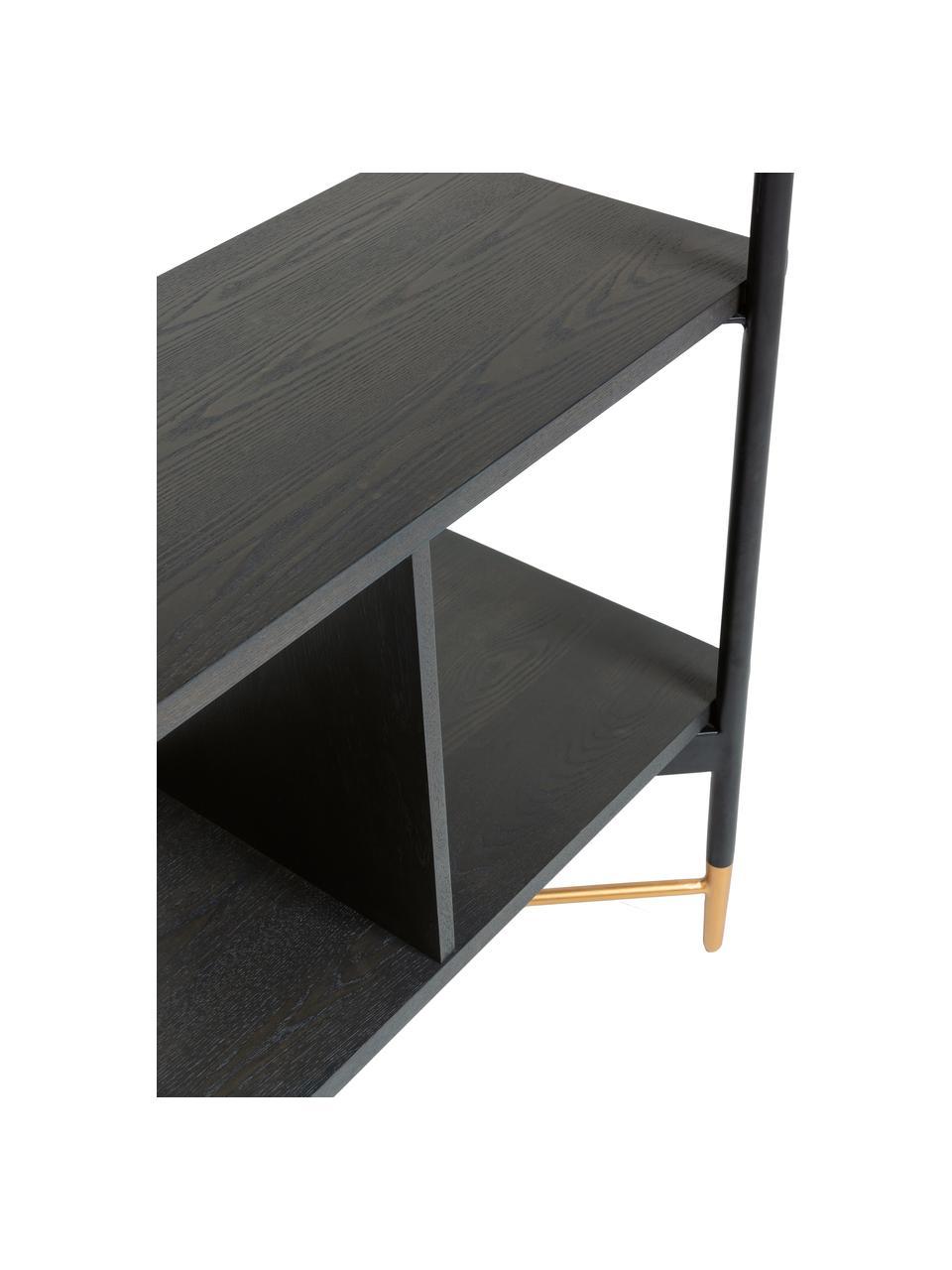 Regał Shelving, Stelaż: metal lakierowany, Czarny, S 120 x W 177 cm