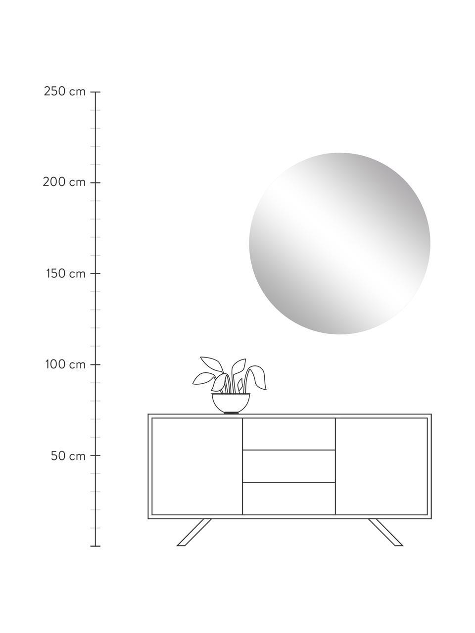 Specchio rotondo da parete senza cornice Erin, Retro: pannelli di fibra a media, Superficie dello specchio: lastra di vetro, Lastra di vetro, Ø 100 cm x Prof. 2 cm