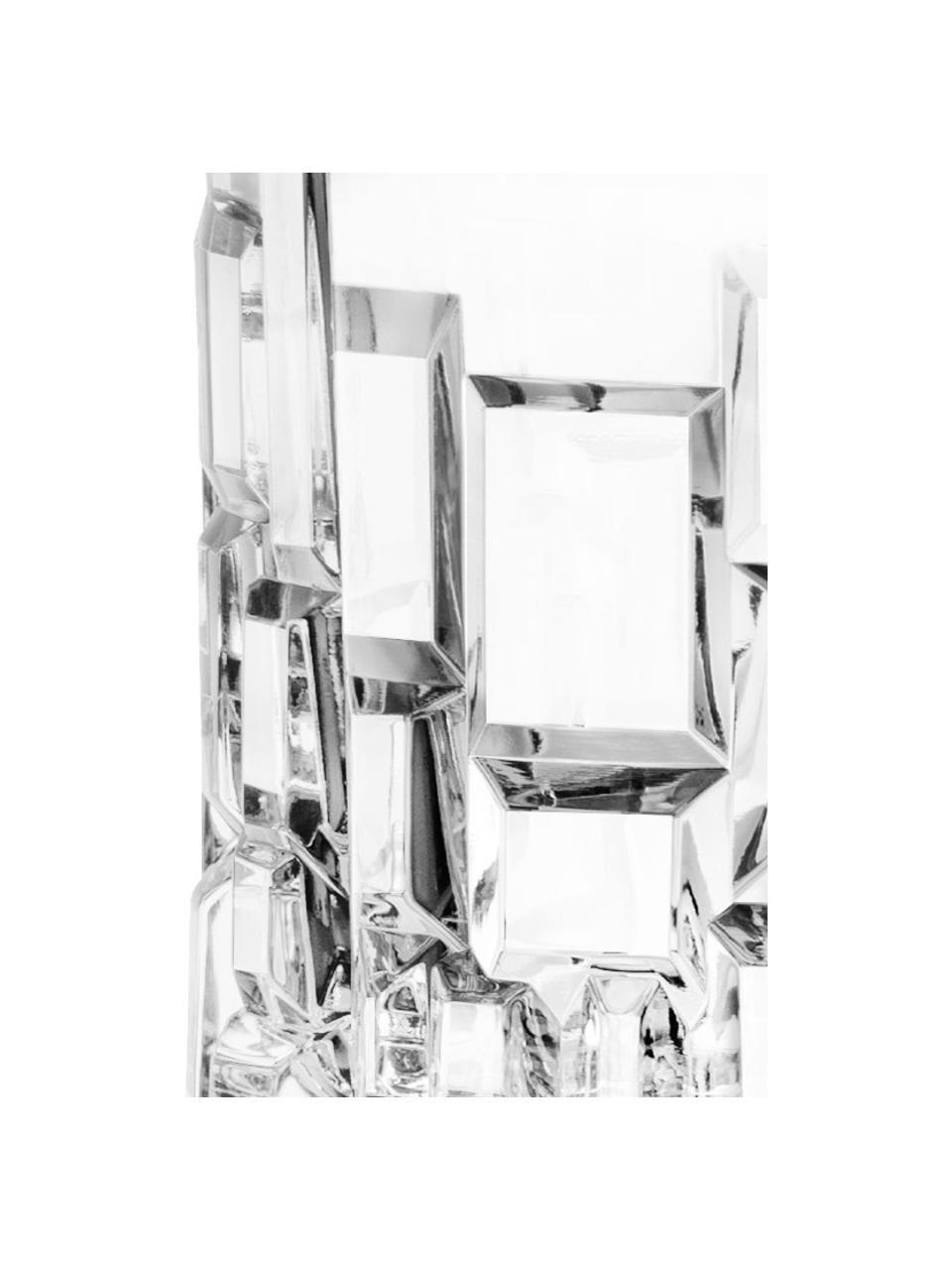 Kristallen glazen Etna met reliëf, 6 stuks, Kristalglas, Transparant, Ø 8 x H 9 cm