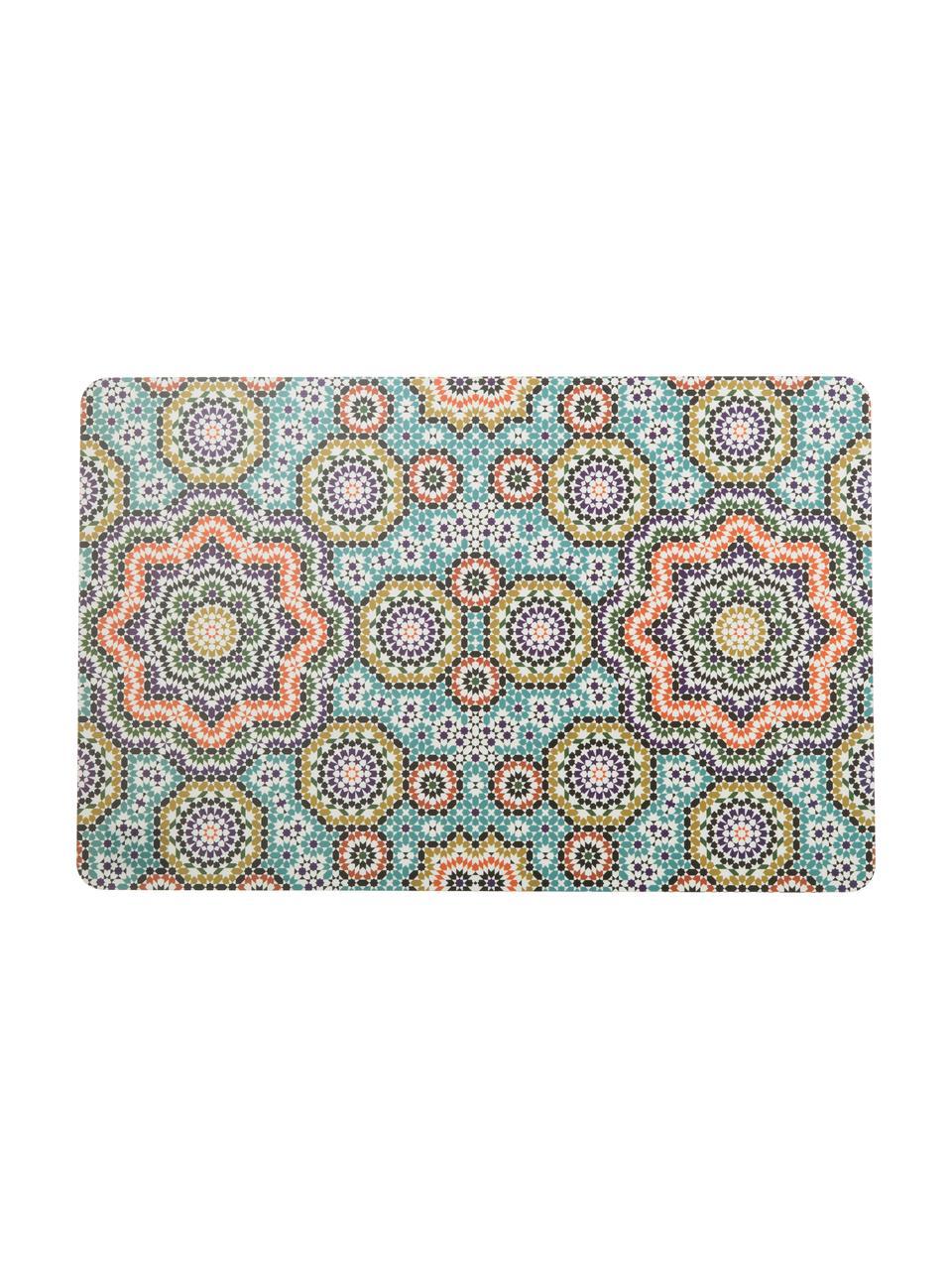 Kunststoff-Tischsets Marrakech, 6er Set, Kunststoff, Mehrfarbig, 28 x 44 cm