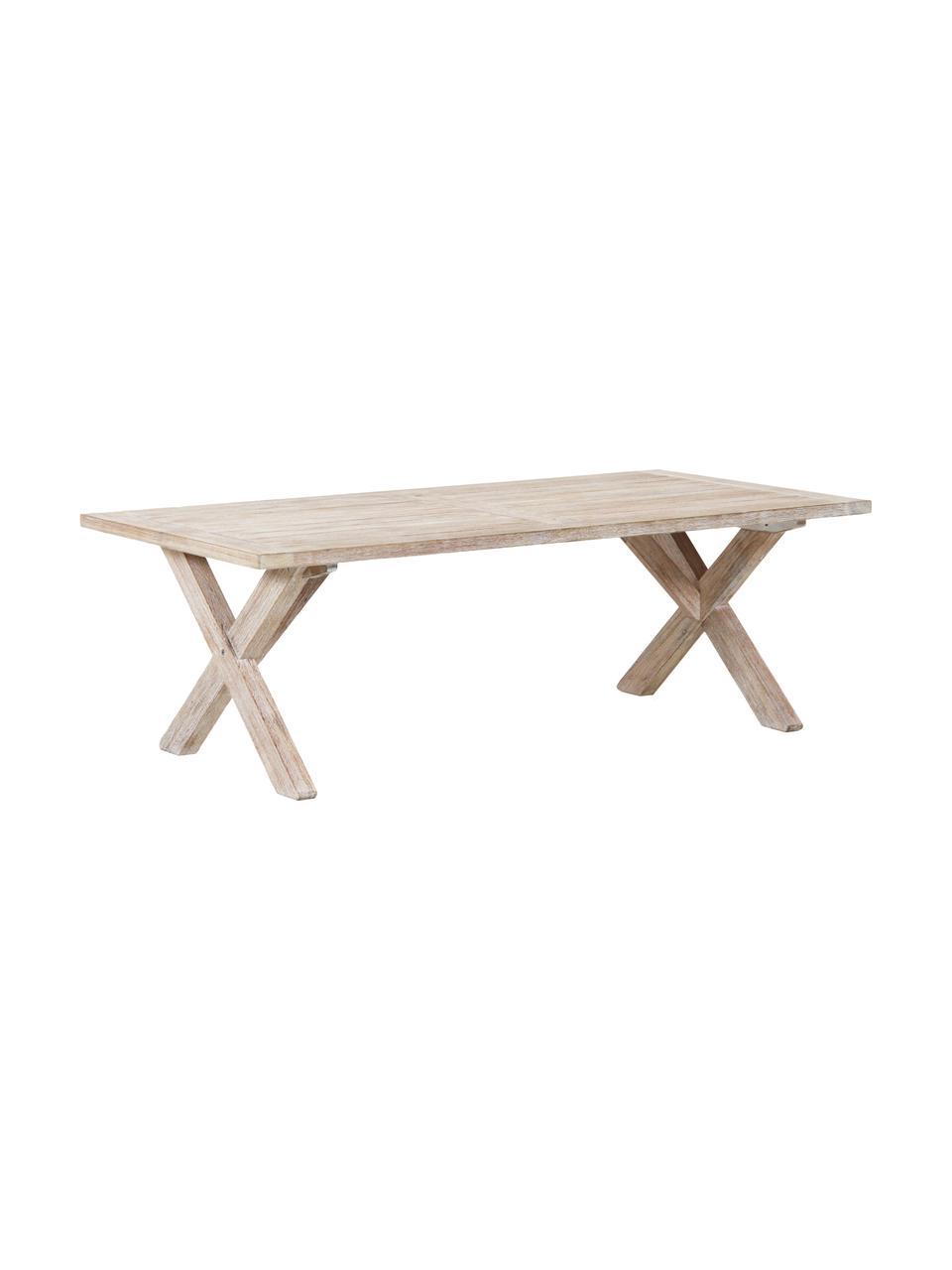 Garten-Esstisch Arizona aus Akazienholz, Akazienholz, weiß gewaschen, Akazie, weiß gewaschen, B 200 x T 90 cm