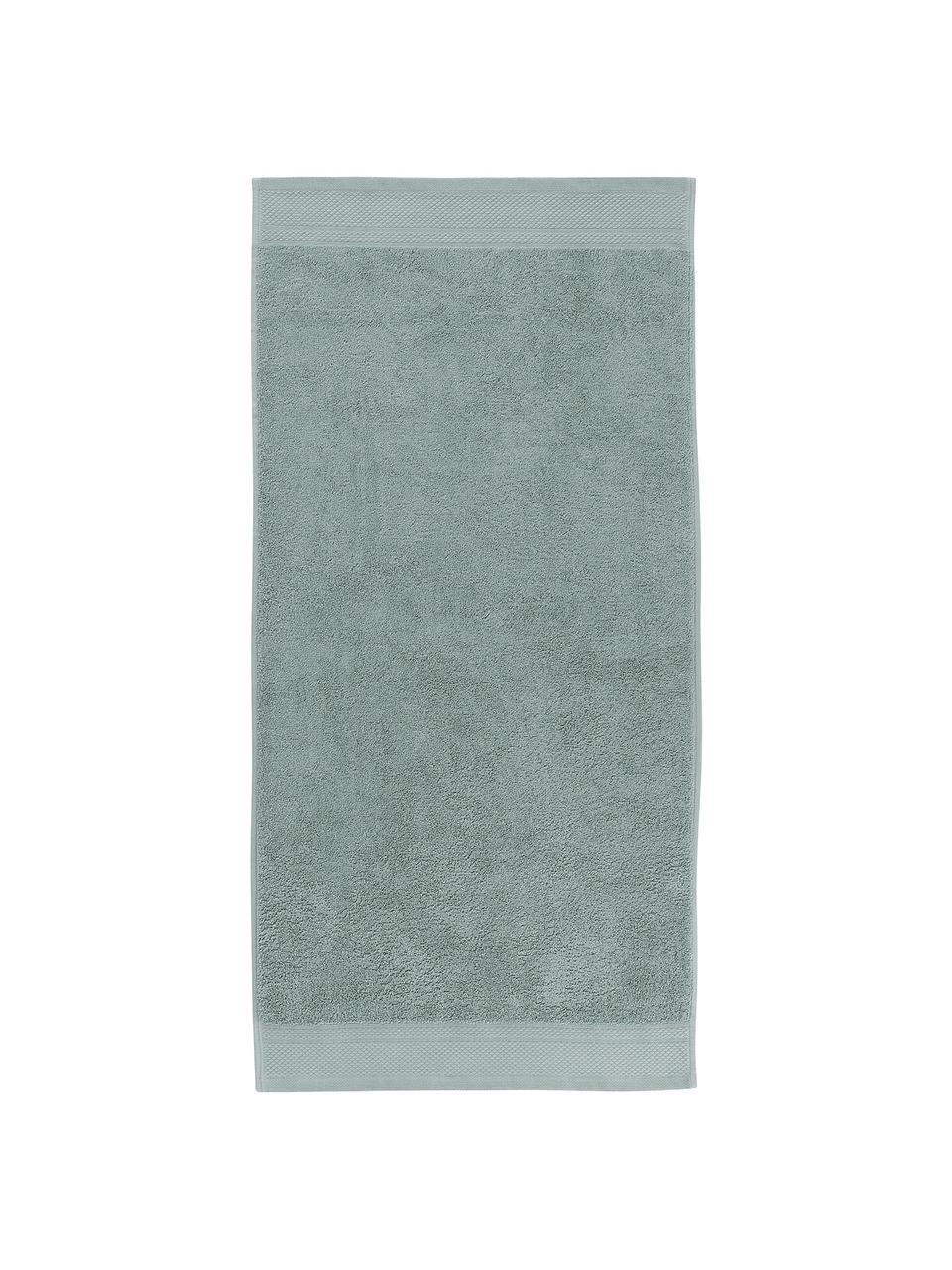 Komplet ręczników Premium, 3 elem., Szałwiowy zielony, Komplet z różnymi rozmiarami