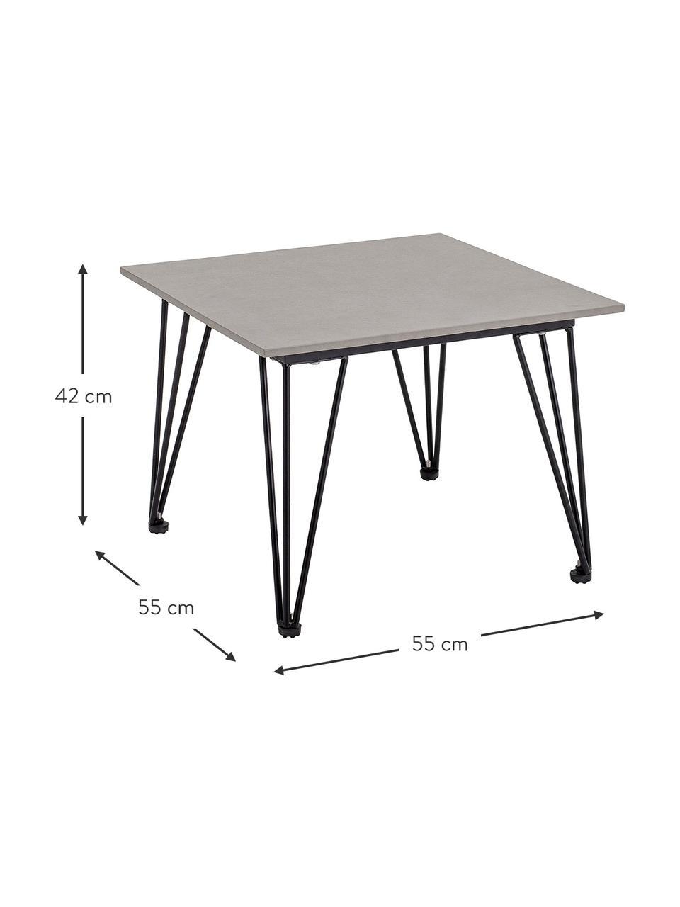 Table de jardin béton Mundo, Blanc, gris
