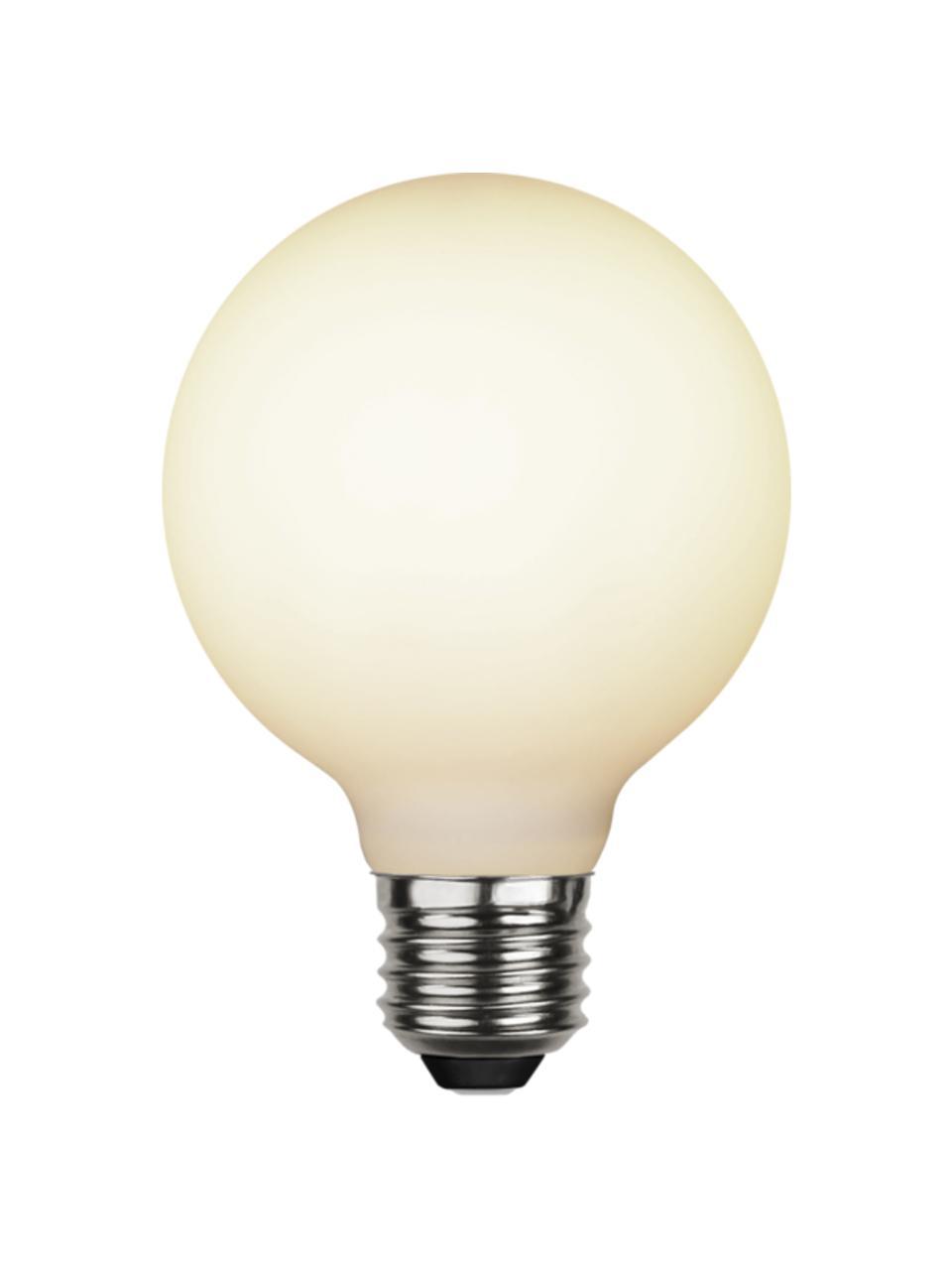 E27 Leuchtmittel, 400lm, dimmbar, warmweiß, 1 Stück, Leuchtmittelschirm: Glas, Leuchtmittelfassung: Aluminium, Weiß, Ø 8 x H 12 cm