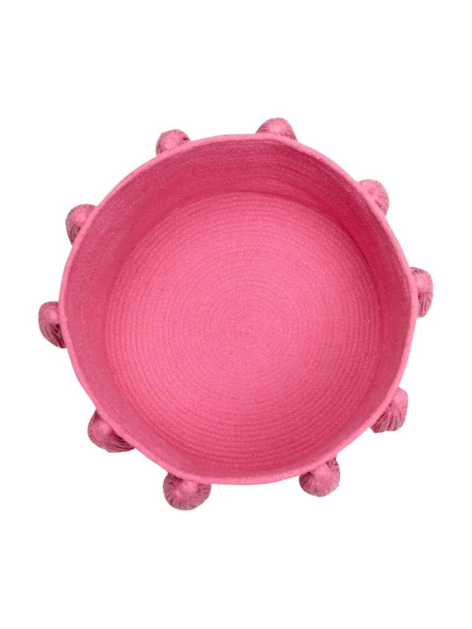 Cesto Tassels, 97% cotone, 3% cotone riciclato, Rosa, Ø 45 x Alt. 30 cm