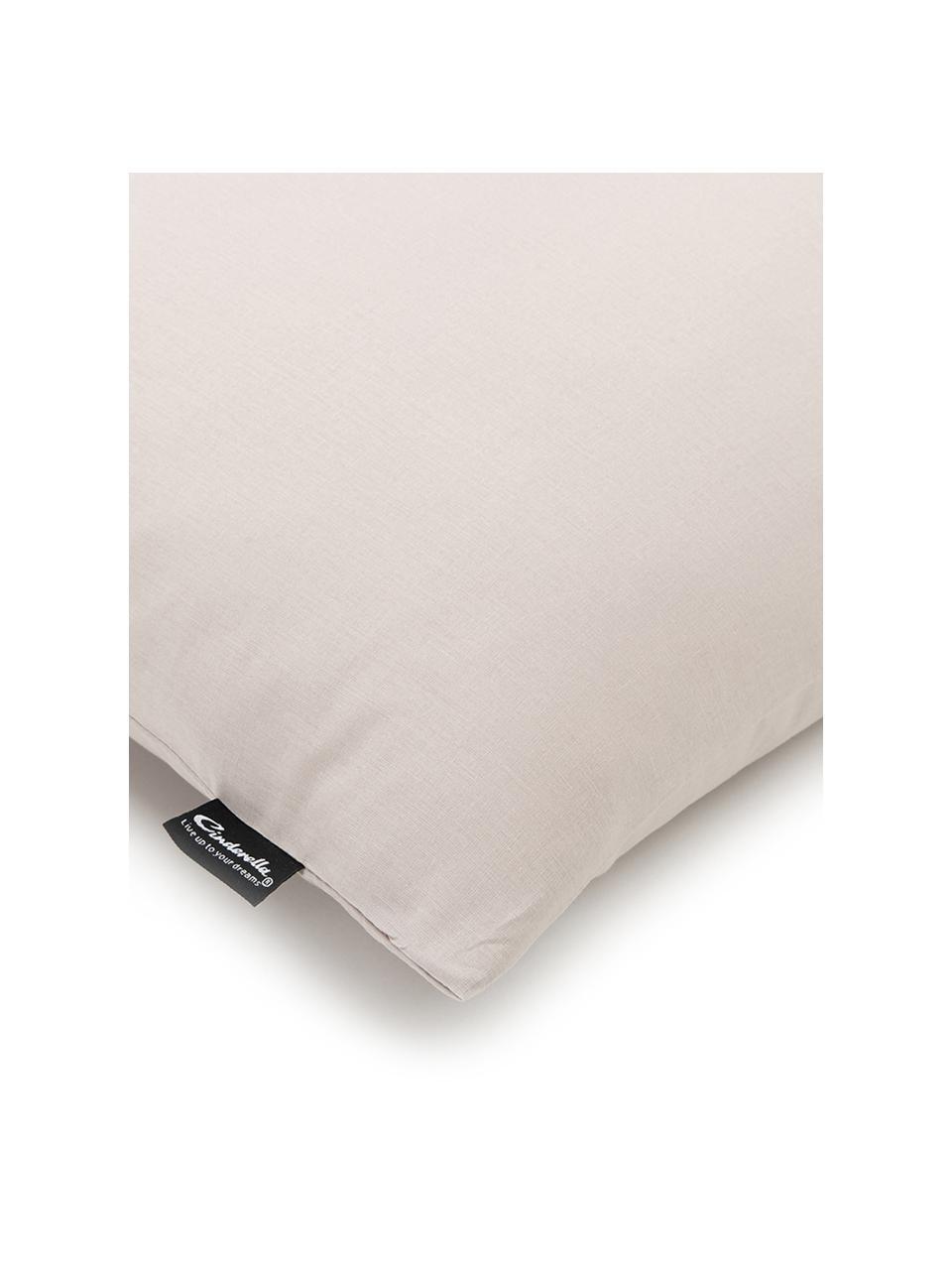Baumwoll-Bettwäsche Weekend in Taupe, 100% Baumwolle  Fadendichte 145 TC, Standard Qualität  Bettwäsche aus Baumwolle fühlt sich auf der Haut angenehm weich an, nimmt Feuchtigkeit gut auf und eignet sich für Allergiker., Taupe, 155 x 220 cm + 1 Kissen 80 x 80 cm
