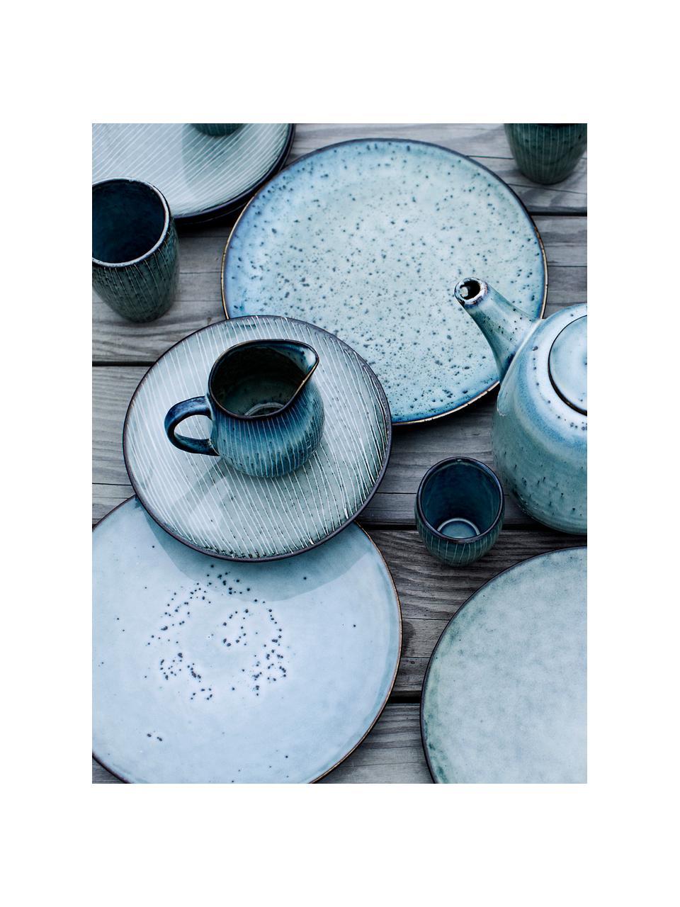 Tasse à expresso faite à la main Nordic Sea, 6pièces, Tons gris et bleus