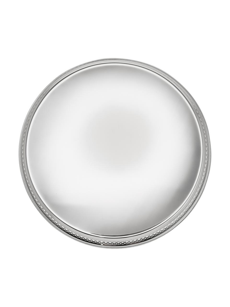 Vassoio rotondo a specchio Delphi, Acciaio argentato, Argento, Ø 30 cm