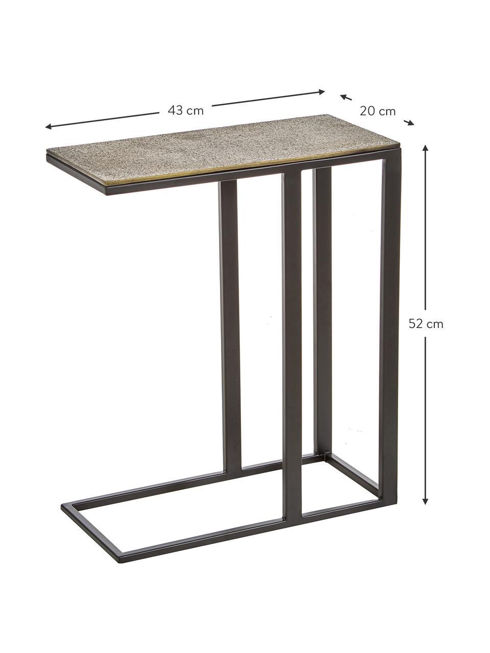 Table d'appoint style industriel Edge, Laiton, noir