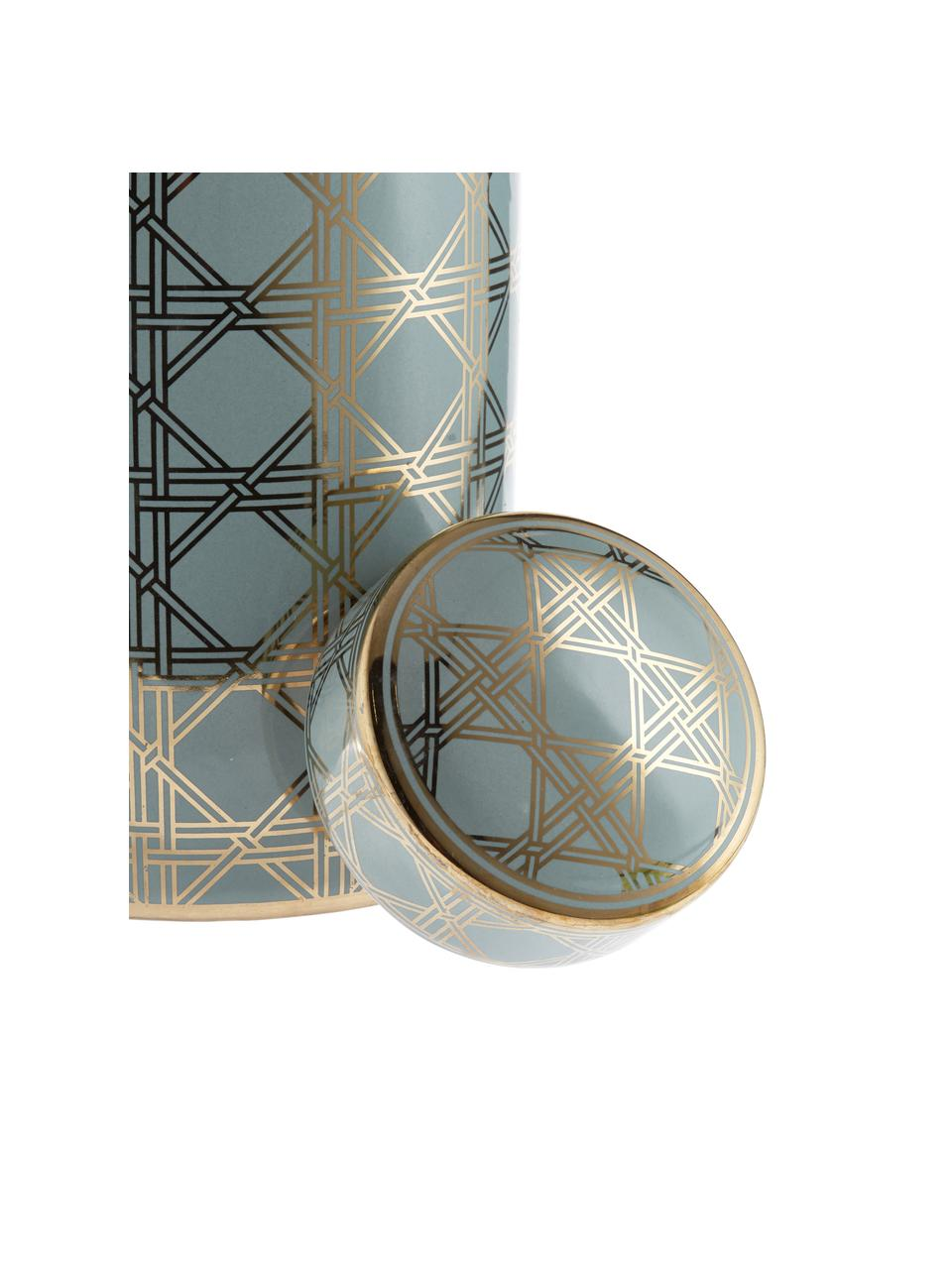 Tibor de porcelana Egypt, Porcelana, Turquesa, dorado, Ø 17 x Al 30 cm