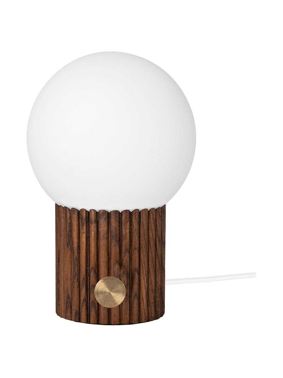 Lampe à poser design Hubble, Brun, blanc