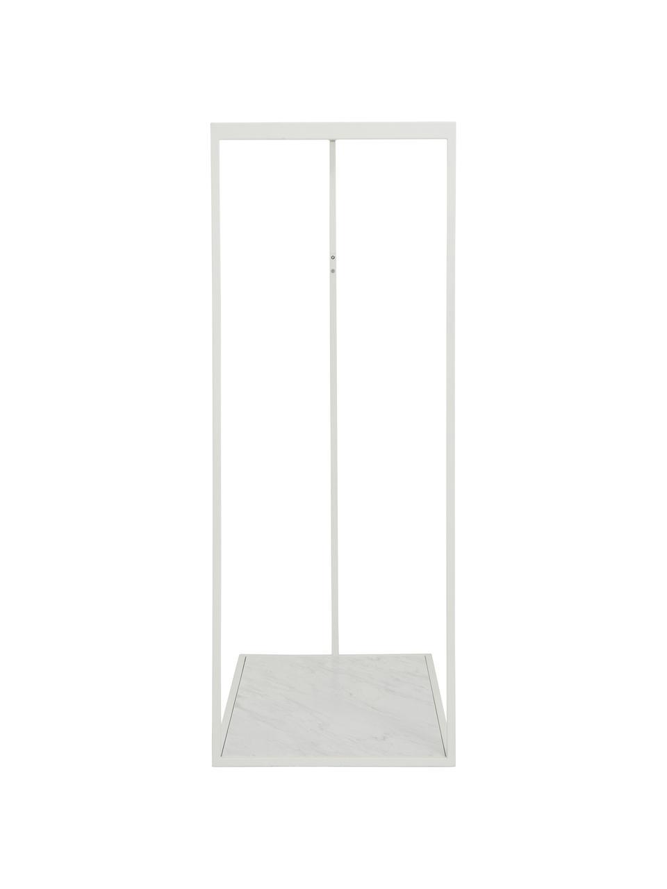 Kleiderstange Pacey mit Marmor-Optik, Gestell: Metall, pulverbeschichtet, Ablage: Mitteldichte Holzfaserpla, Weiß, 120 x 152 cm