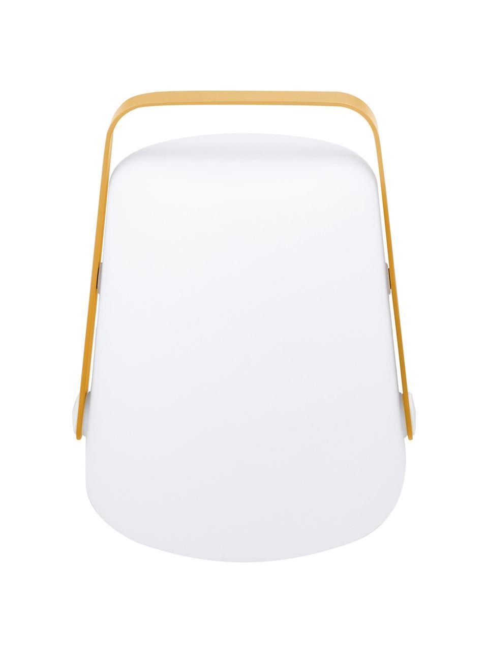 Mobile Dimmbare Außentischlampe Balad, Lampenschirm: Polyethen, für den Außenb, Griff: Aluminium, lackiert, Gelb, Ø 19 x H 25 cm