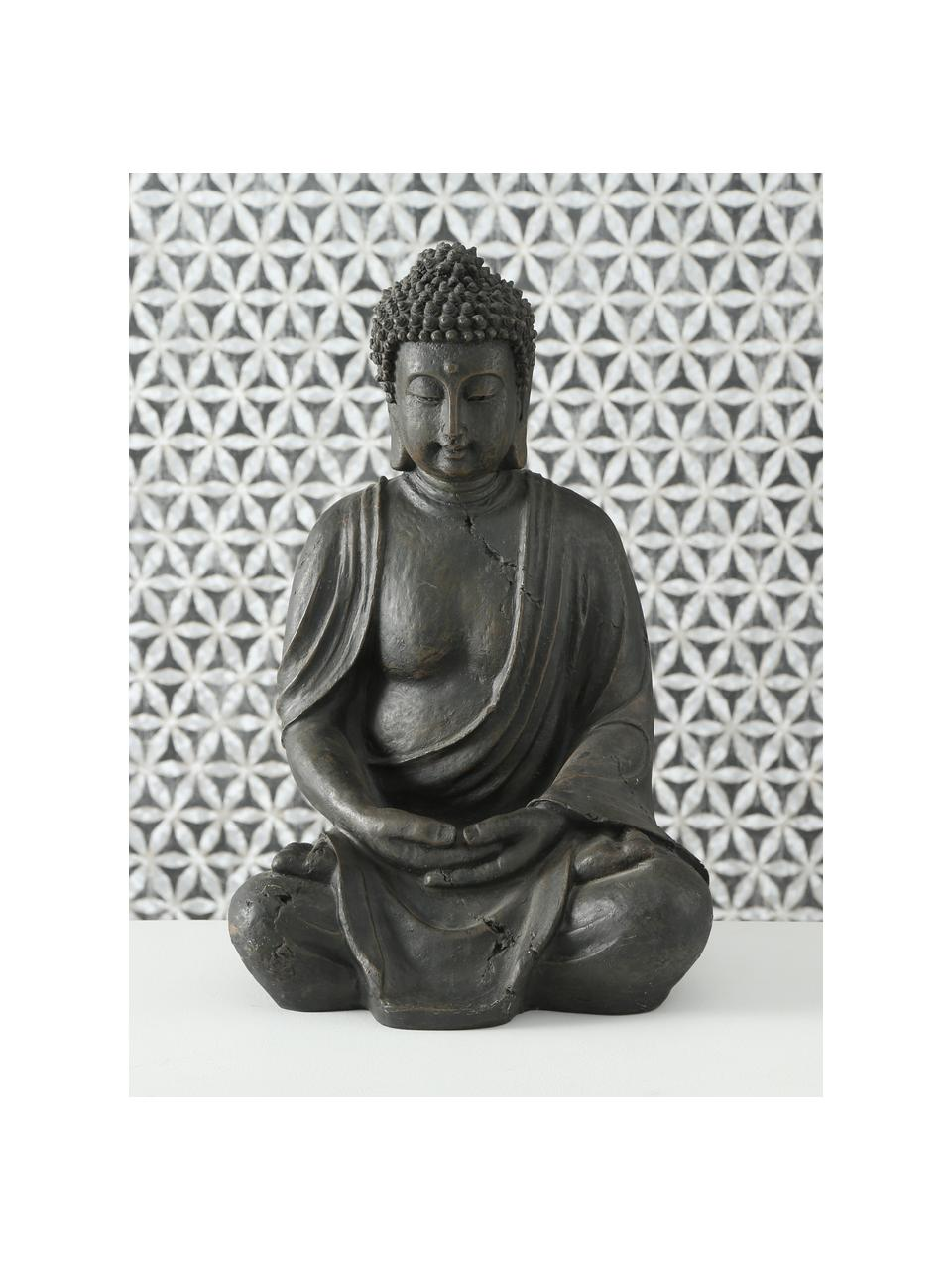 Oggetto decorativo Buddha, Materiale sintetico, Marrone scuro, Larg. 26 x Alt. 40 cm