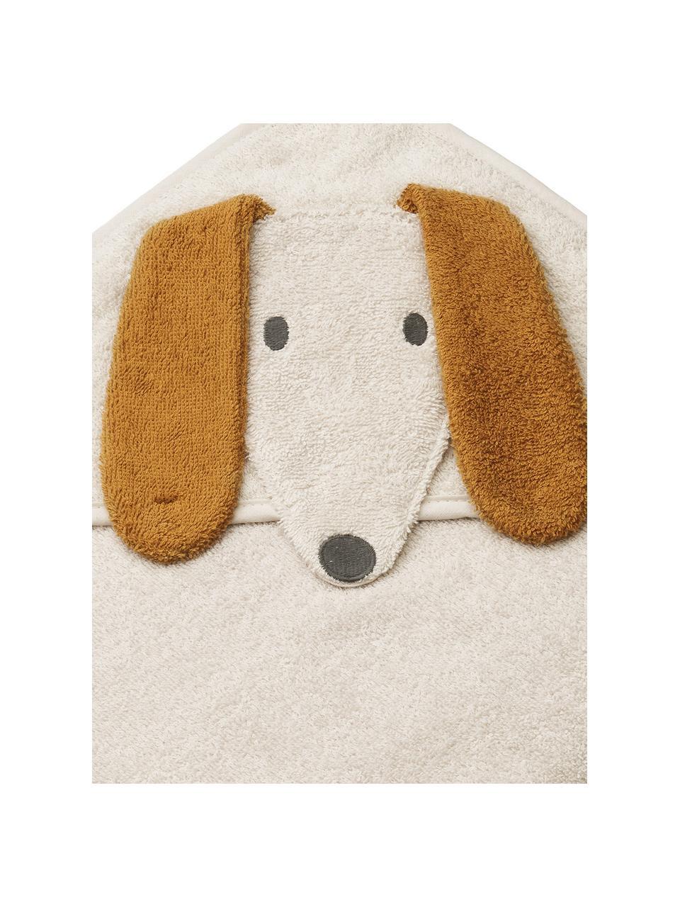 Asciugamano per bambini Dog, 100% cotone biologico, Beige, Larg. 100 x Lung. 100 cm