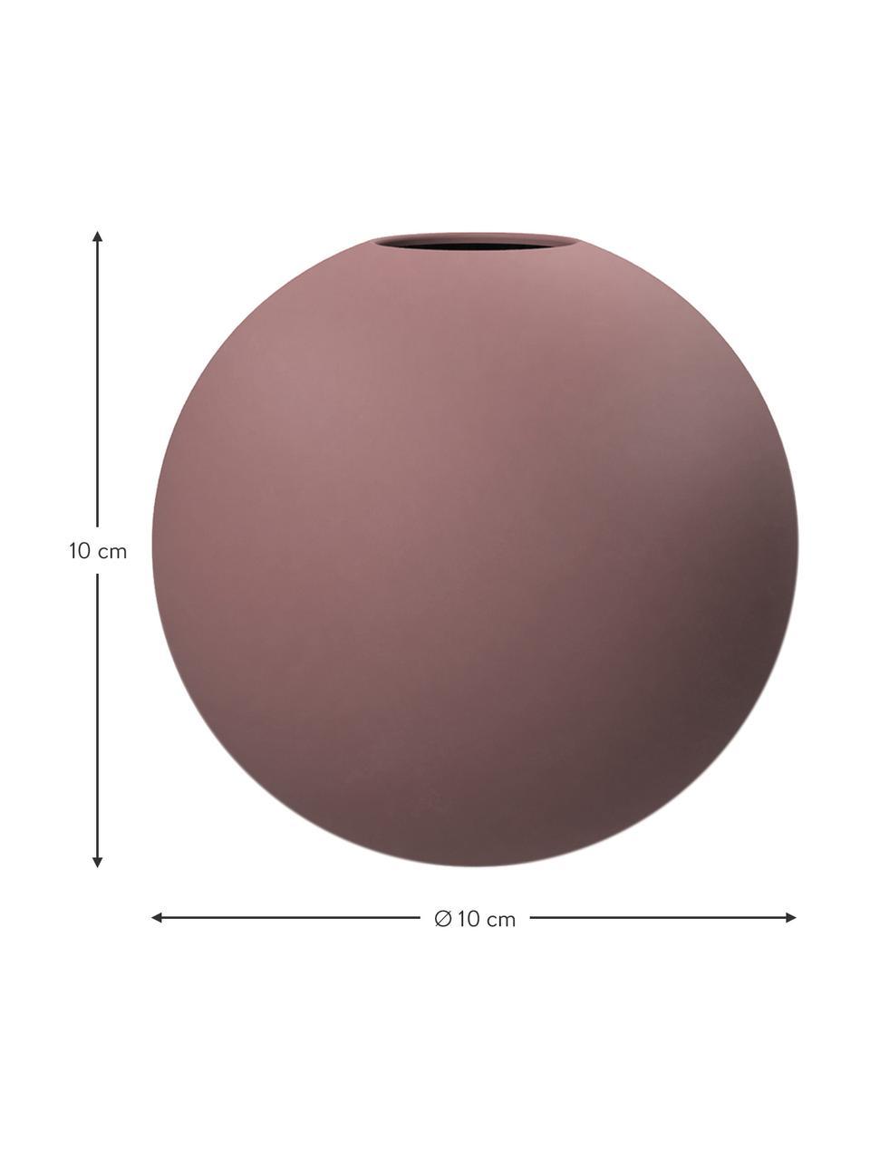 Ręcznie wykonany wazon Ball, Ceramika, Brudny różowy, Ø 10 x W 10 cm