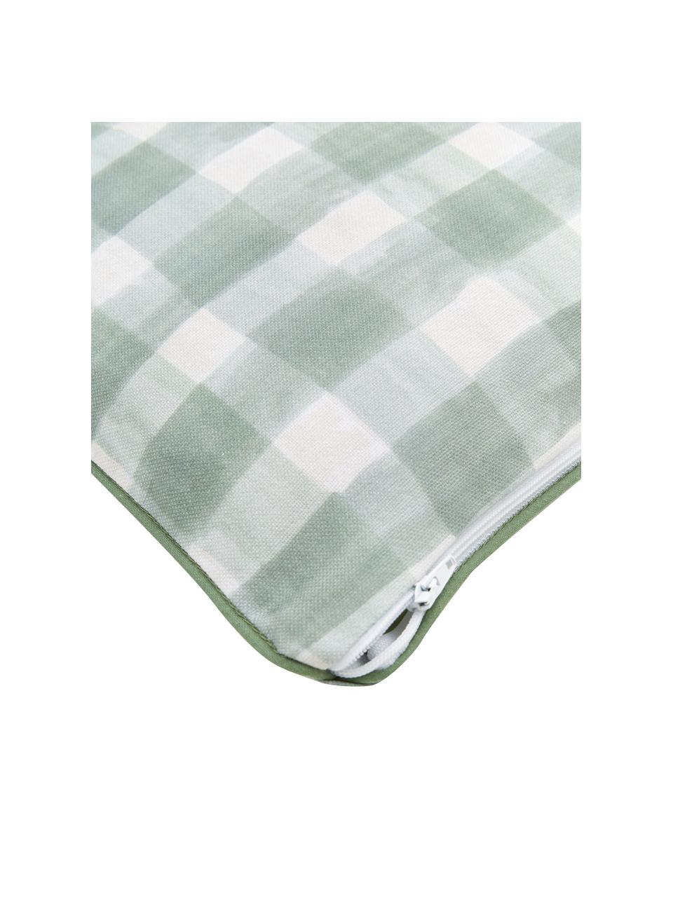 Housse de coussin rectangulaire réversible Check par Candice Gray, Vert