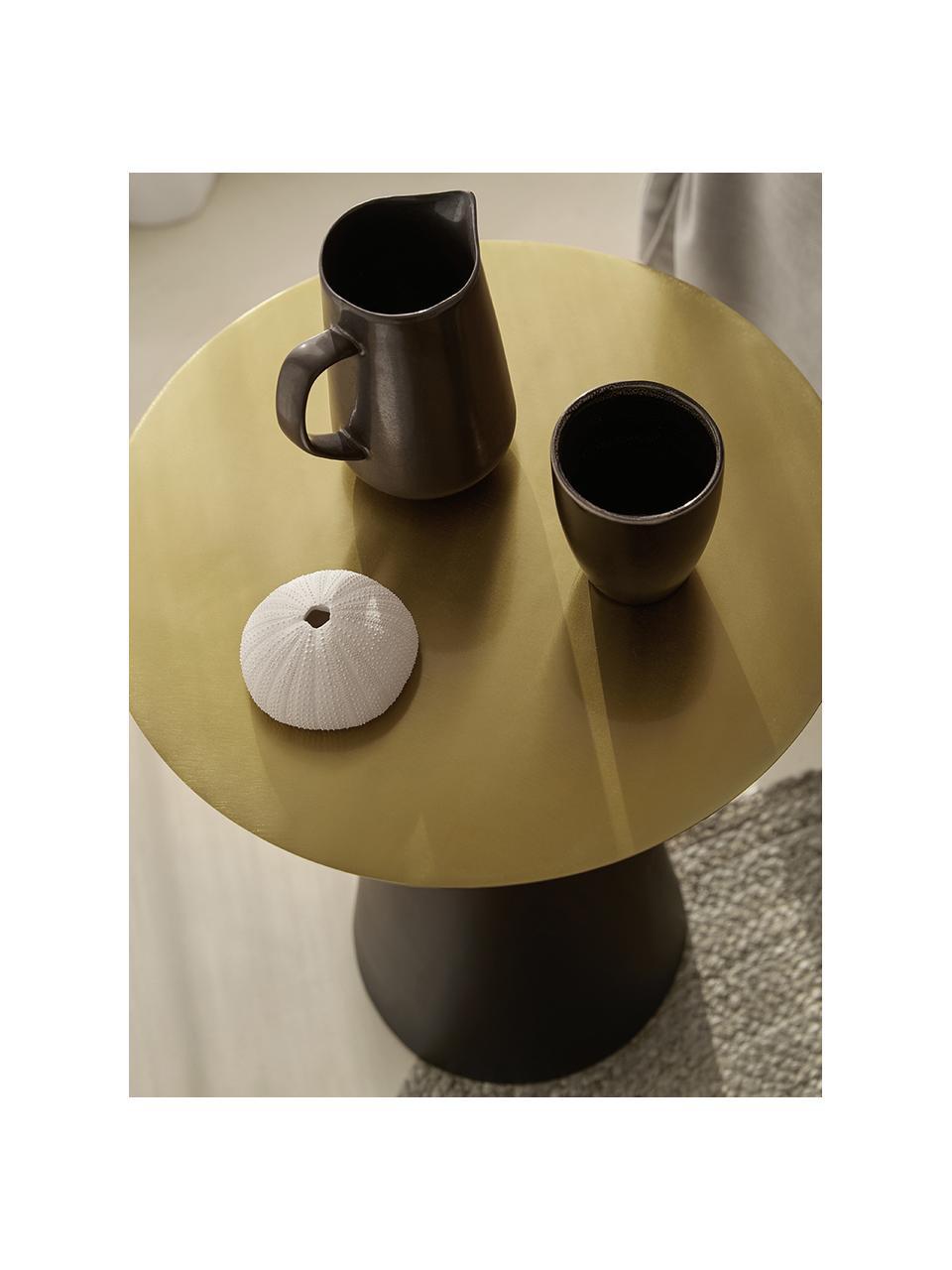 Komplet stolików pomocniczych z metalu Zelda, 2 elem., Odcienie złotego, czarny, Komplet z różnymi rozmiarami