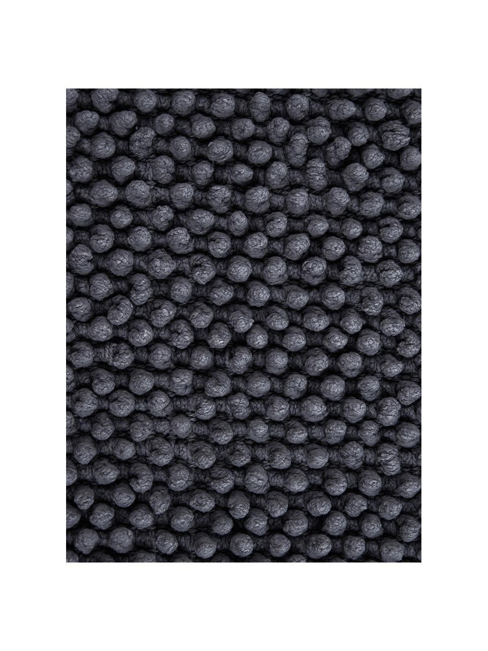 Kissenhülle Indi mit strukturierter Oberfläche in Dunkelgrau, 100% Baumwolle, Dunkelgrau, 45 x 45 cm