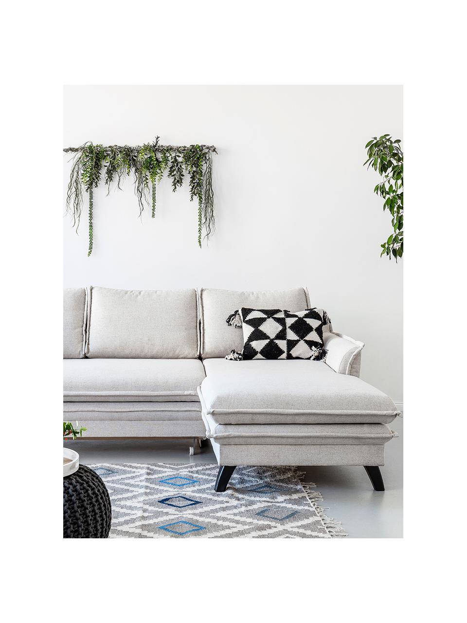Sofa narożna z funkcją spania i miejscem do przechowywania Charming Charlie, Tapicerka: 100% poliester, w dotyku , Stelaż: drewno naturalne, płyta w, Beżowy, S 228 x G 150 cm