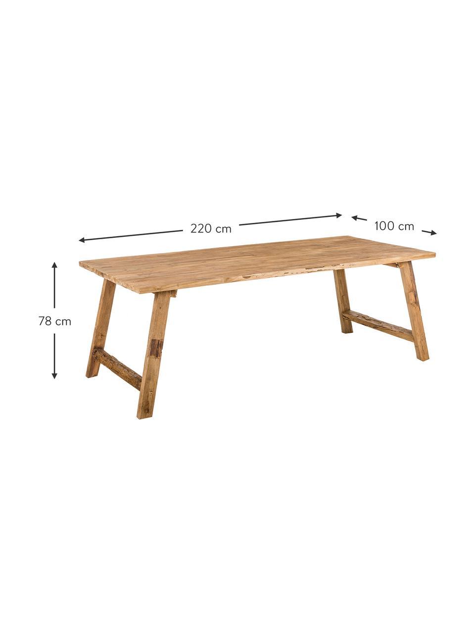 Tavolo in legno di teak riciclato Lawas, Legno di teak, finitura naturale, Legno di teak, Larg. 180 x Prof. 90 cm
