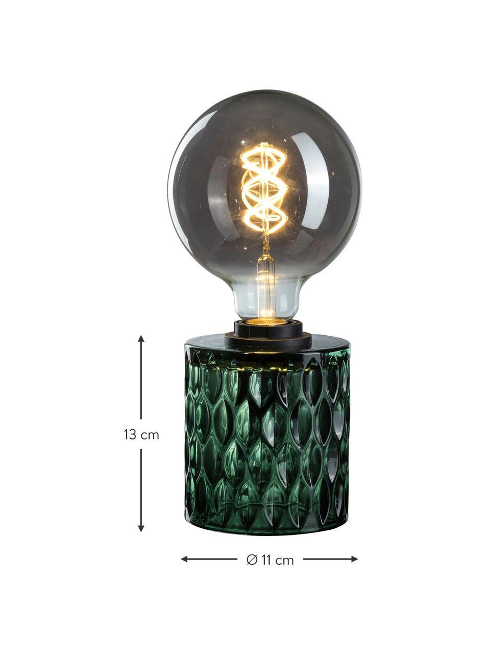 Lampada da tavolo in vetro verde Crystal Magic, Base della lampada: vetro, Verde, Ø 11 x Alt. 13 cm