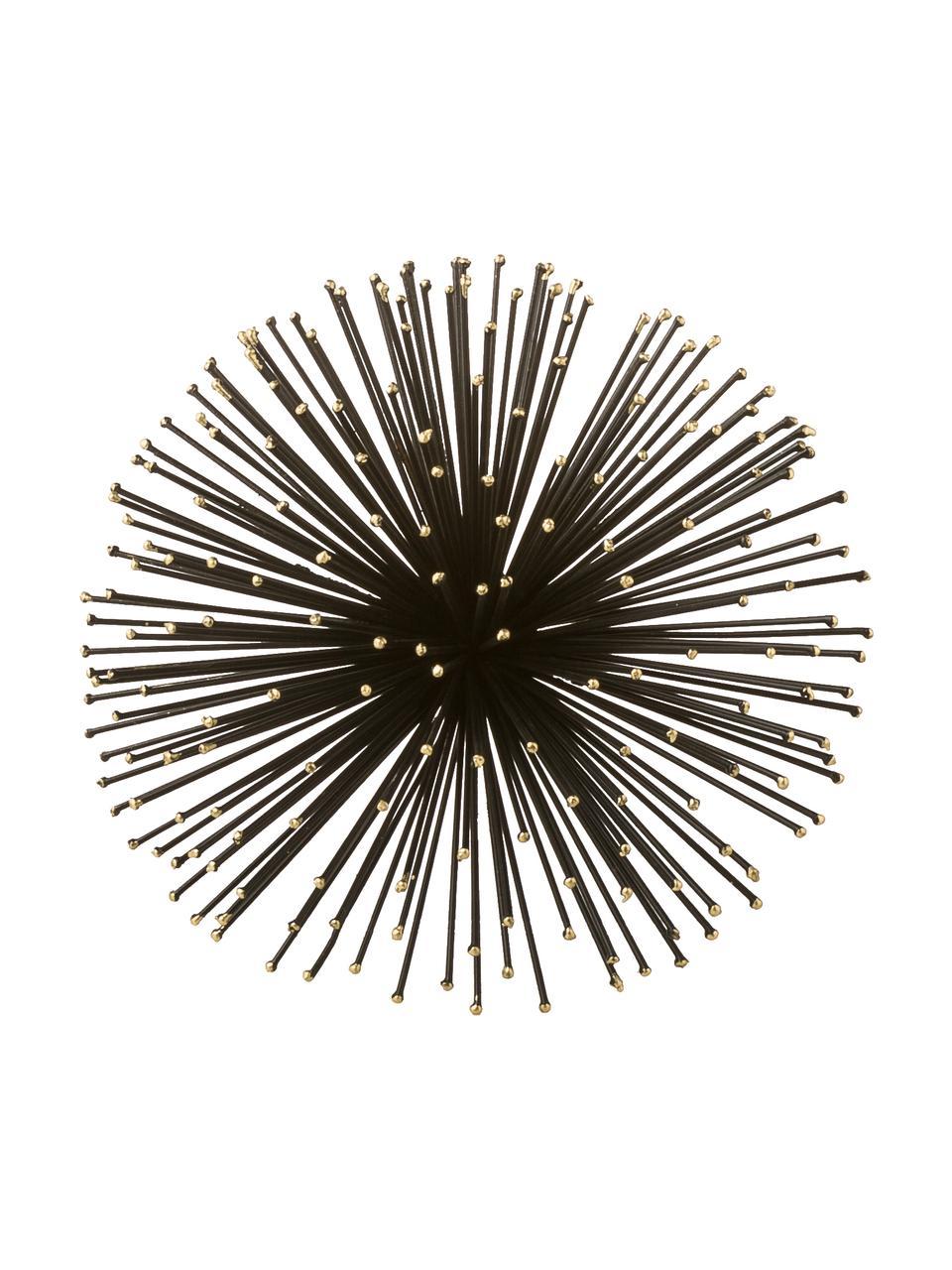 Komplet dekoracji ściennych Ray, 3 elem., Metal, Czarny, Komplet z różnymi rozmiarami