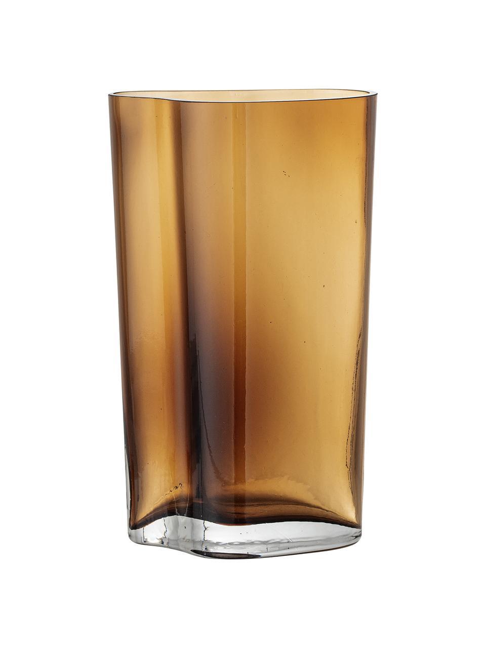 Vase verre teinté Benia, Brun
