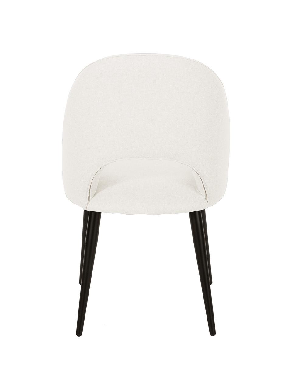 Krzesło tapicerowane Rachel, Tapicerka: 100% poliester Dzięki tka, Nogi: metal malowany proszkowo, Beżowy, S 53 x G 57 cm